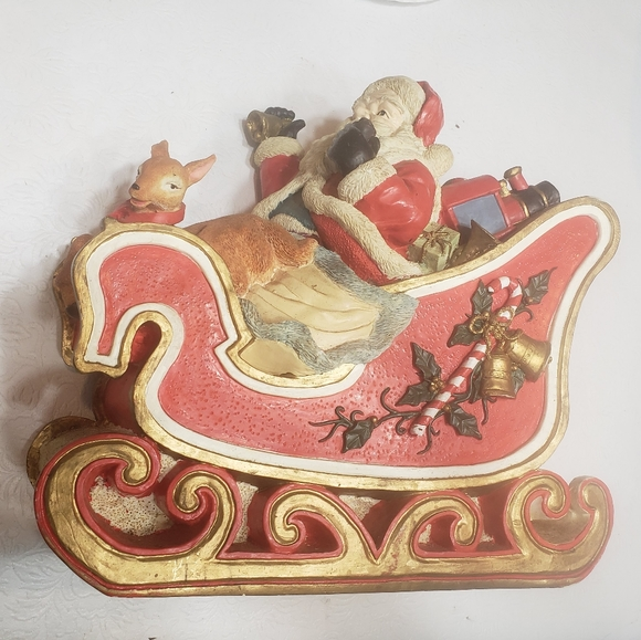 None Other - Santa Claus in his sleigh so cute decoration